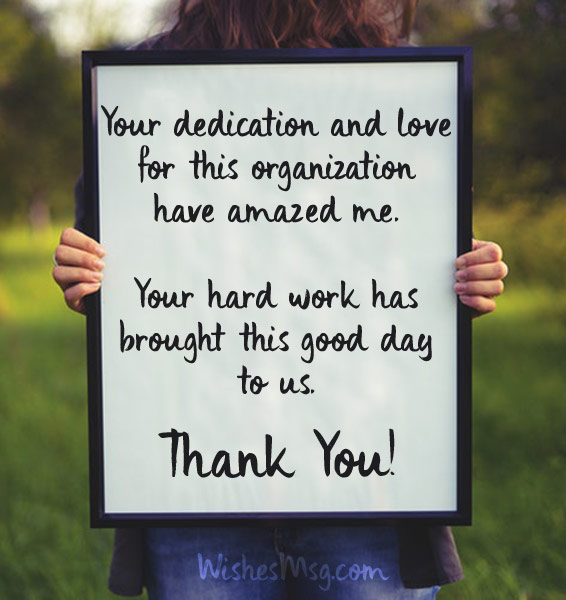 Thank You Quotes For Hard Work And Dedication: Thank You Messages For Employees And Appreciation Notes