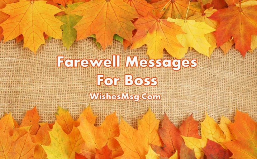 Farewell Message For Boss – Goodbye Quotes & Wishes