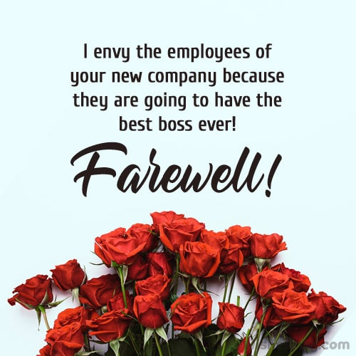 Farewell Messages for Boss on Transfer