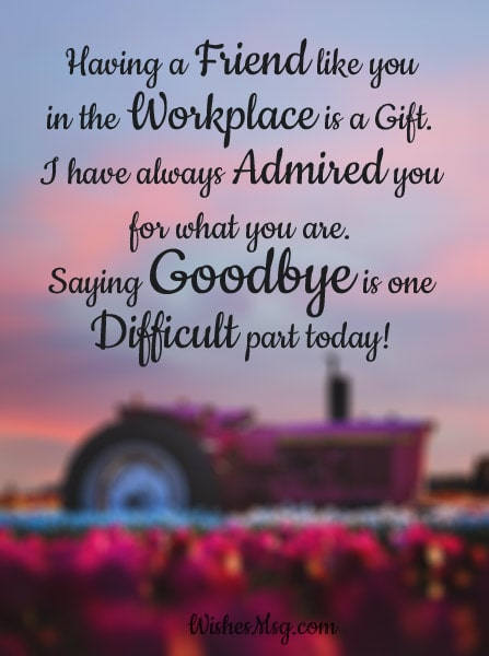 Farewell Messages for Colleague Coworkers