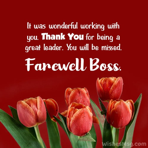 Farewell Wishes for Boss on Retirement