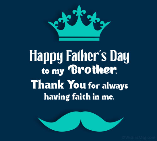 Father's Day Messages for Brother