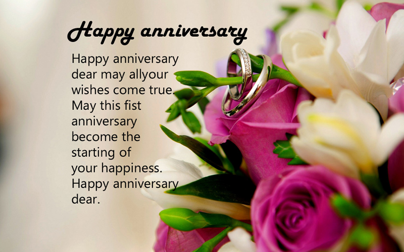 First anniversary wishes and messages for couples wishesmsg