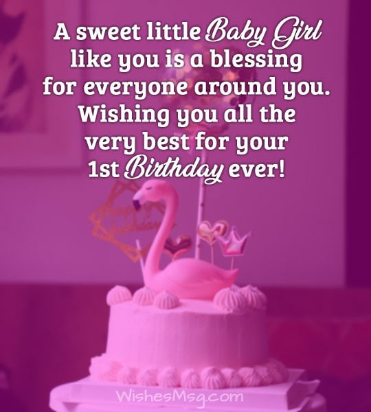 You Are Such A Charming Baby Girl That Everyone In The House Is Delighted To See Its Very Special Day Your Life Congratulations
