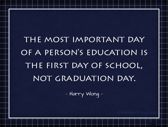Quotes About First Day At School