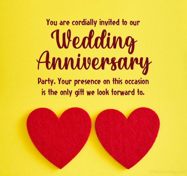 Formal Anniversary Invitation