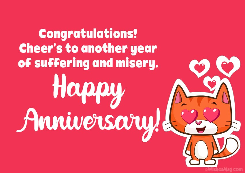 Happy Anniversary Wishes Funny