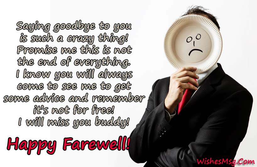 Funny Farewell Messages - Humorous Goodbye Quotes - WishesMsg