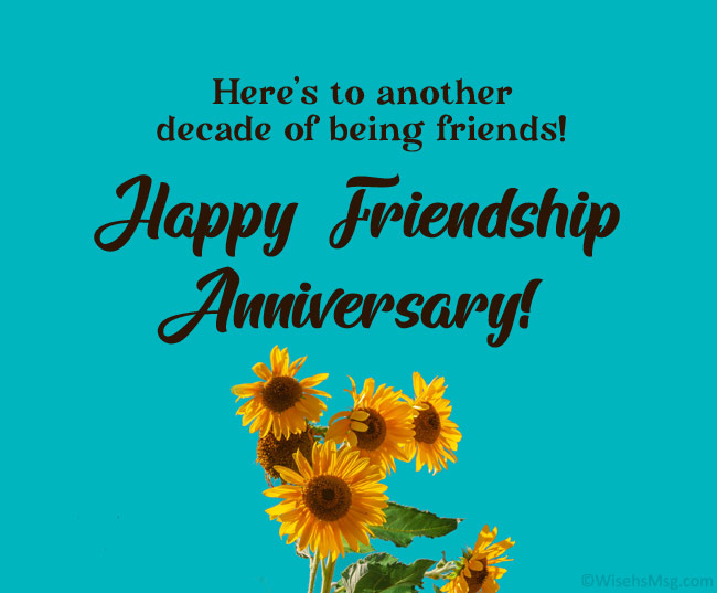 Funny Friendship Anniversary Wishes