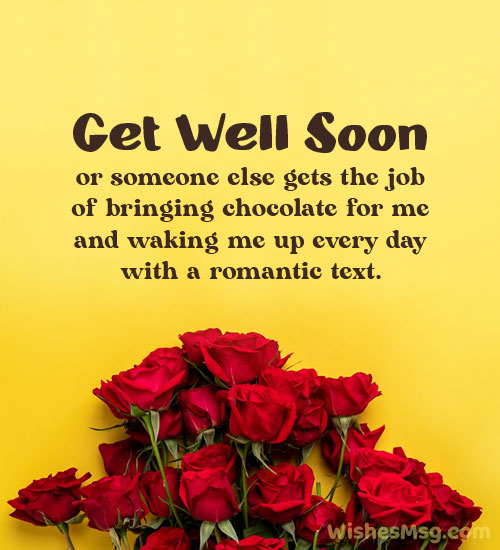 Funny Get Well Message for Boyfriend