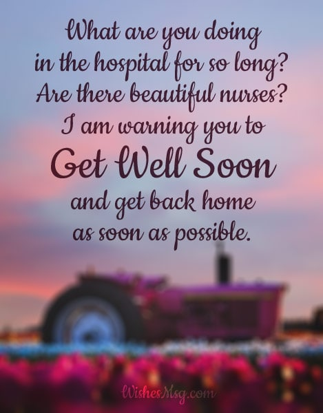 Get Well Soon Wishes Messages for Husband - WishesMsg