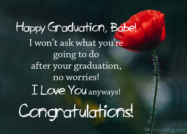 Funny Graduation Wishes for Boyfriend