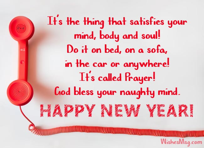 funny new year greeting messages images