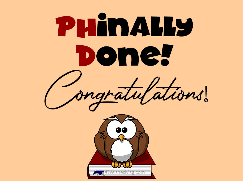 PhD Congratulations Card Message Funny