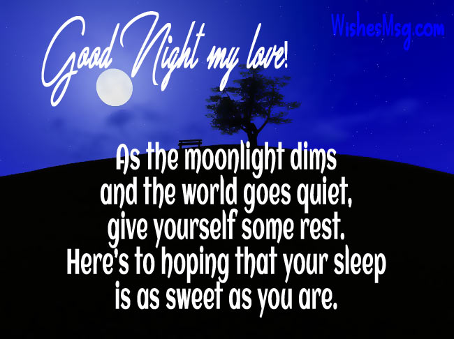 Good Night Messages For Girlfriend Lovely Wishes For Her Wishesmsg
