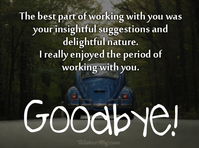 Goodbye Messages To Clients When Leaving Company