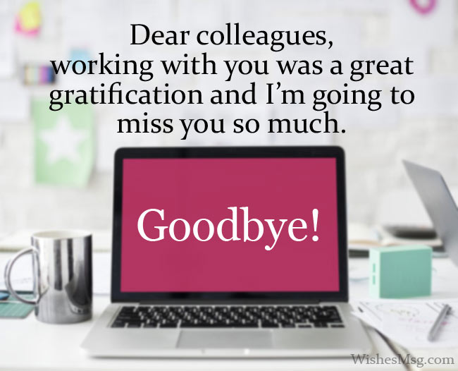 Goodbye Messages To Colleagues When Leaving The Job
