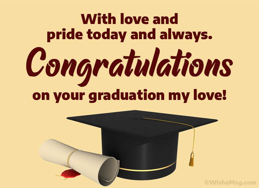 Congratulations on Graduation My Love