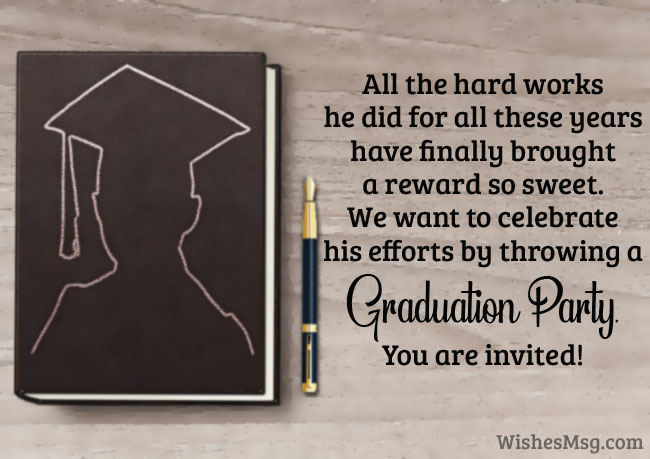 Graduation Party Invitation Messages and Wording Ideas - WishesMsg
