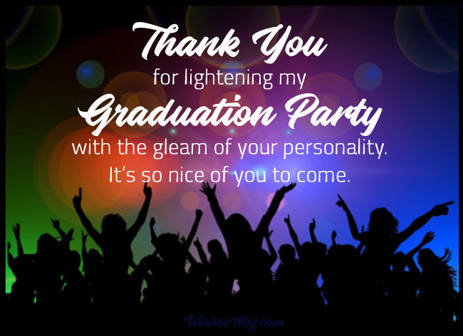 Graduation Party Thank You Card Massages