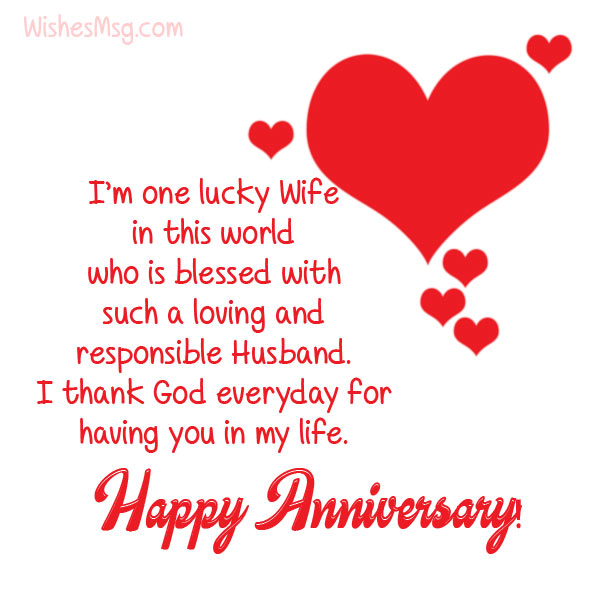 Wedding Anniversary Wishes & Messages for Husband   WishesMsg