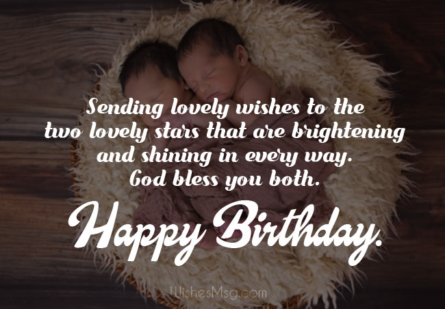 Happy Birthday Messages for Twins
