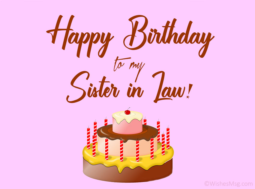 Happy Birthday To Sister In Law Sms