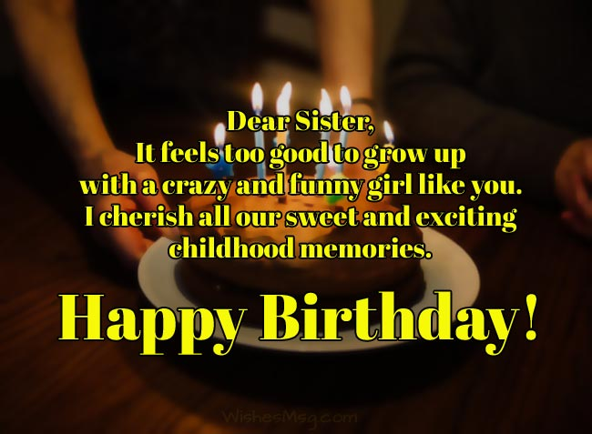 Birthday Wishes For Sister.200 Birthday Wishes For Sister Birthday Messages