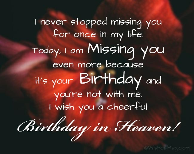 Birthday Wishes After Death