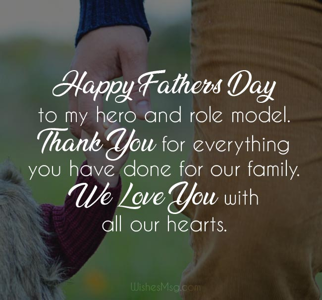 Father\'s Day Wishes 2019 : Happy Fathers Day Messages and Quotes