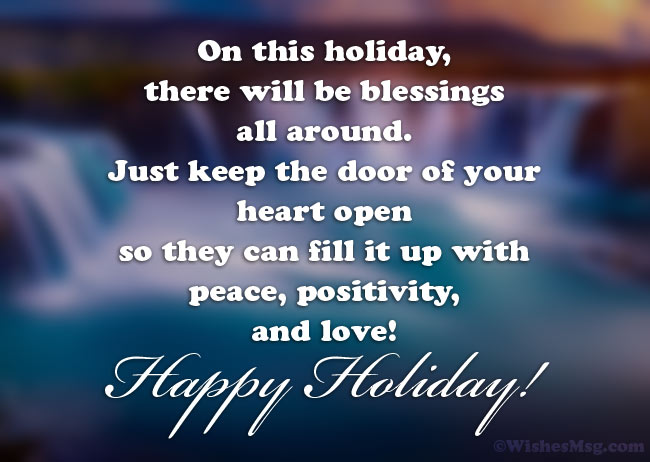 Happy Holiday Messages for Card
