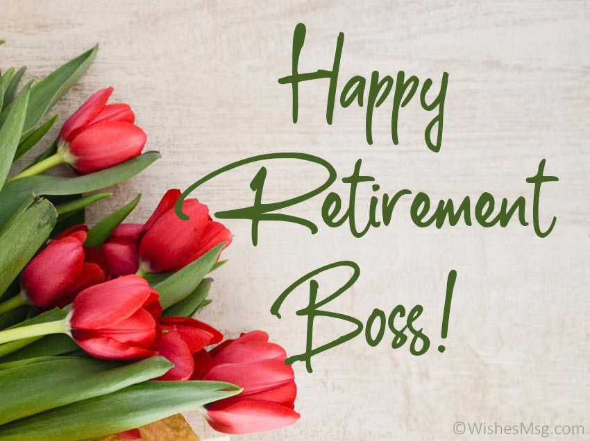 Happy Retirement Wishes for Boss