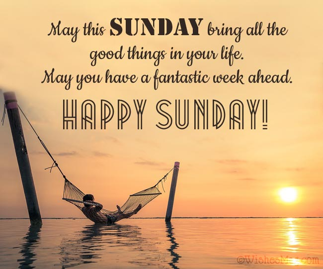Happy Sunday Wishes Messages
