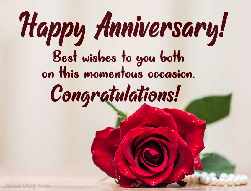 8+ Wedding Anniversary Wishes and Messages - WishesMsg