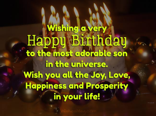 Birthday Wishes for Son - Happy Birthday Son Messages