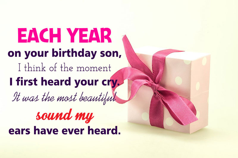 Birthday wishes for son inspiring birthday messages wishesmsg heartfelt birthday wishes for son m4hsunfo