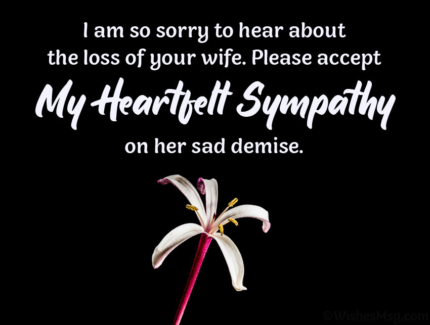 words of comfort for loss of wife