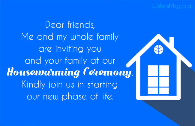 Housewarming Invitation Messages for Social Media