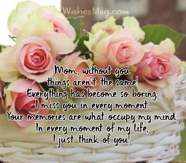 I Miss You Messages For Mom After Death - WishesMsg