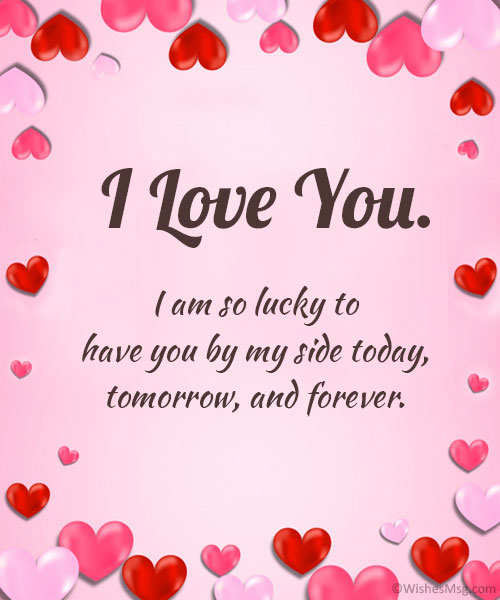 I love you msg with images