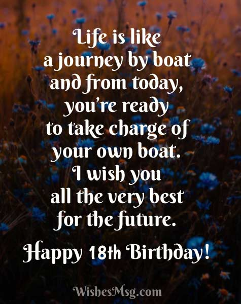 18th Birthday Wishes Happy 18th Birthday Messages And Quotes