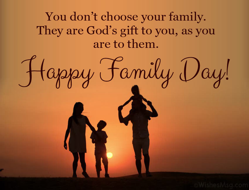 Inspirational Message for Family Day