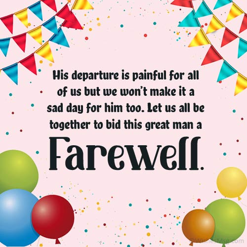 Invitation Messages for Farewell Party