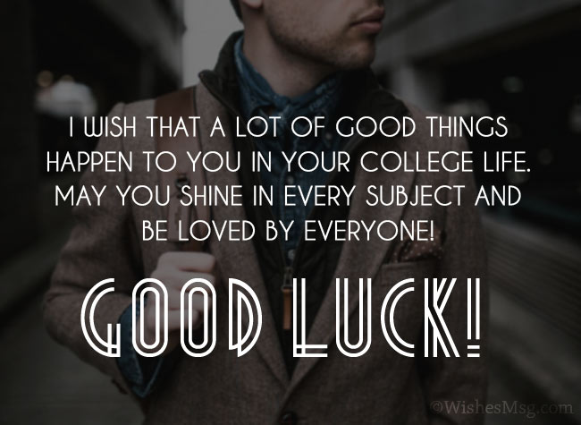 Leaving for College Wishes for Son
