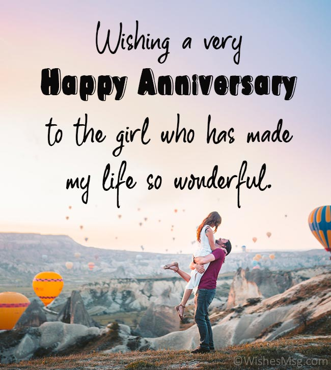 Love Anniversary Wishes for Girlfriend