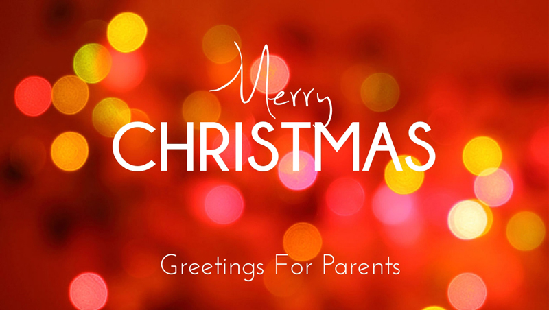 Best Merry Christmas Wishes For Parents & Heartfelt Messages