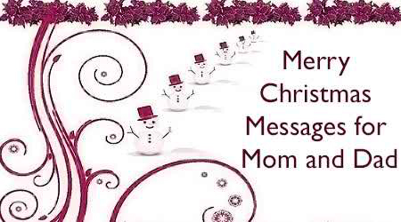 Nice Merry Christmas Wishes For Your Parents