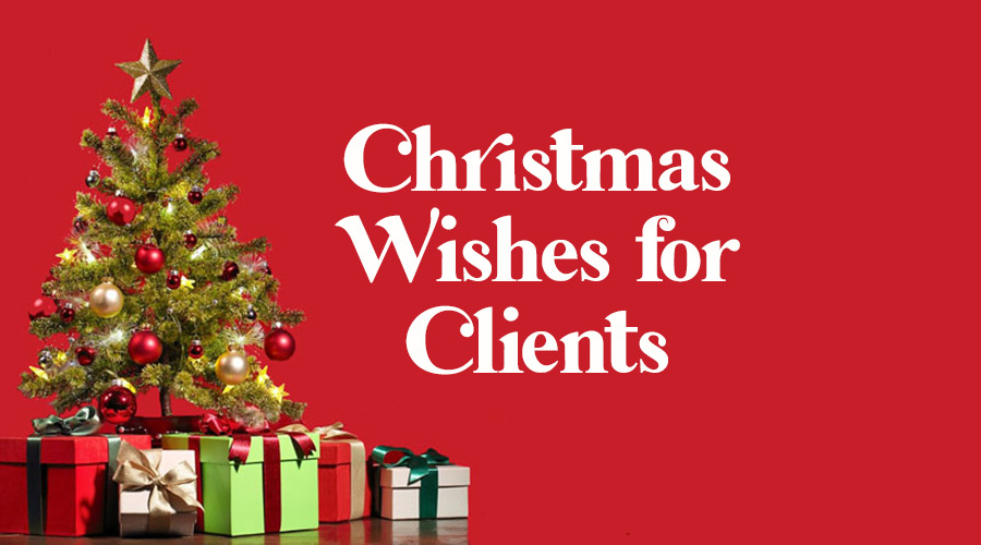 Merry Christmas Wishes for Clients