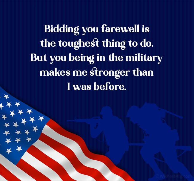 Military Spouse Appreciation Day Wishes to Your Deployed Husband