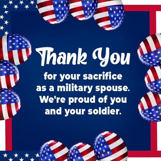 Military Spouse Appreciation Day Wishes to a Military Wife